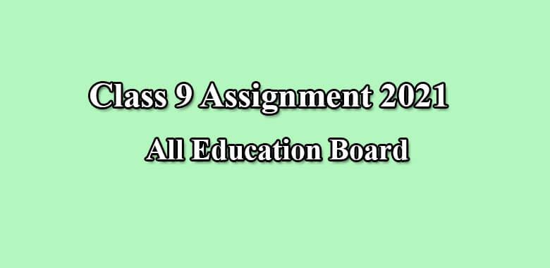 Class 9 Assignment 2021