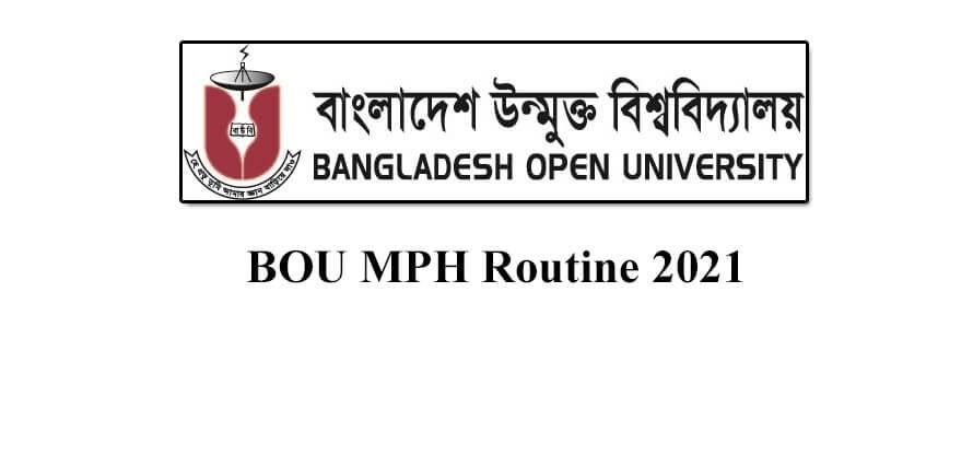 BOU MPH Routine 2021 Official