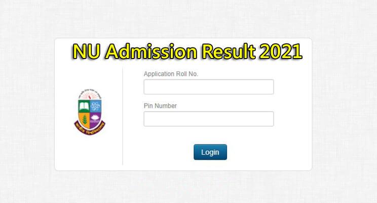 NU Admission Result 2021 Published