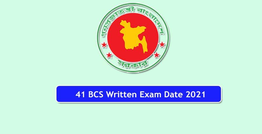 41 BCS Written Exam Date 2021