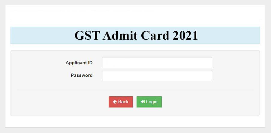 GST Admit Card 2021 Download